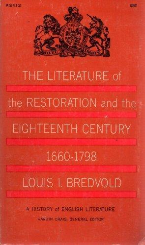 9780020488002: Literature of the Restoration and Eighteenth Century: v. 3