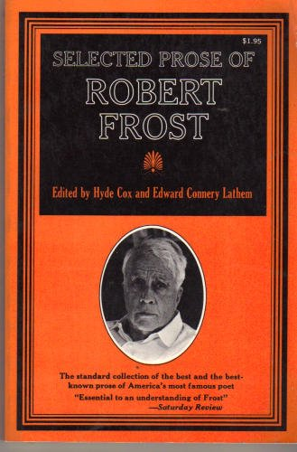 9780020510000: Selected Prose of Robert Frost