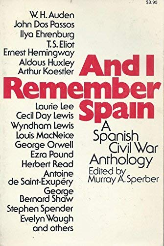 9780020540304: And I Remember Spain