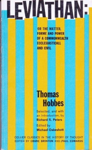 Leviathan Or The Matter Forme & Power: Thomas Hobbes