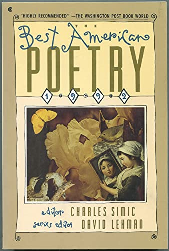 9780020698456: The Best American Poetry: 1992