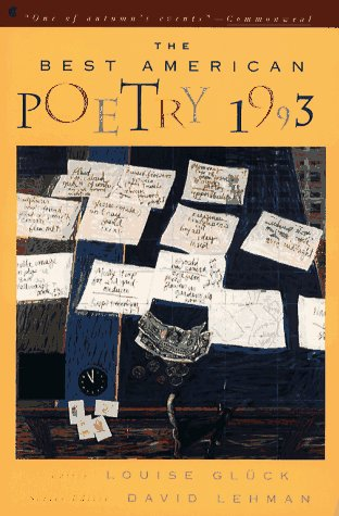 9780020698463: The Best American Poetry 1993