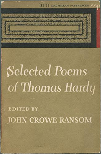 9780020704904: Selected Poems of Thomas Hardy