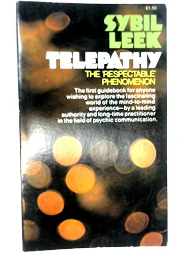 9780020772606: Telepathy: The Respectable Phenomenon