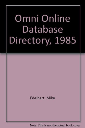 9780020799207: Omni Online Database Directory, 1985