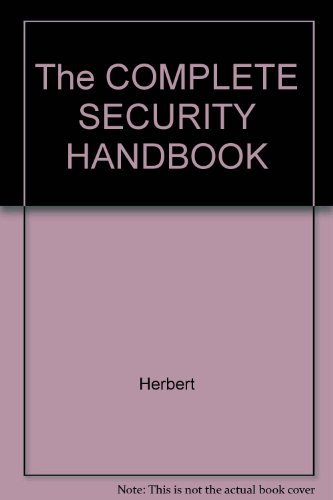 9780020800309: The COMPLETE SECURITY HANDBOOK
