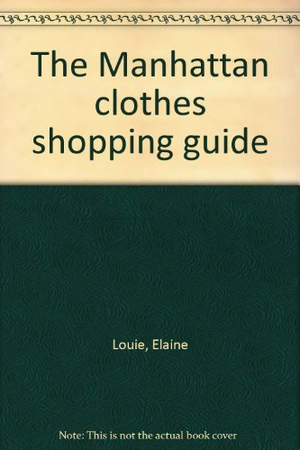 9780020807209: The Manhattan clothes shopping guide