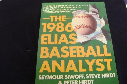 9780020814306: The 1986 Elias baseball analyst