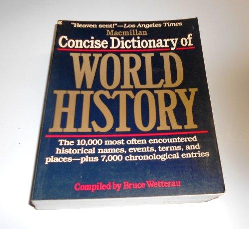 9780020824107: Macmillan Concise Dictionary of World History