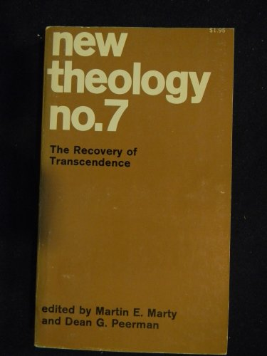 9780020874409: New Theology: No. 7: The Recovery of Transcendence