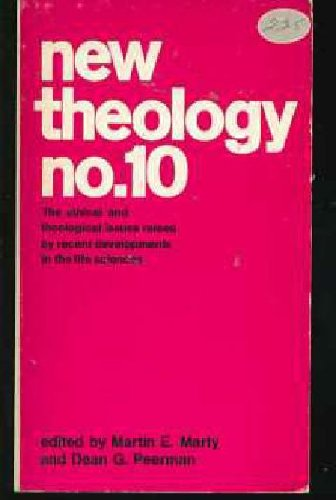 9780020874706: New Theology: No. 10