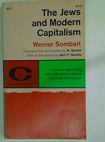 9780020965800: Jews and Modern Capitalism