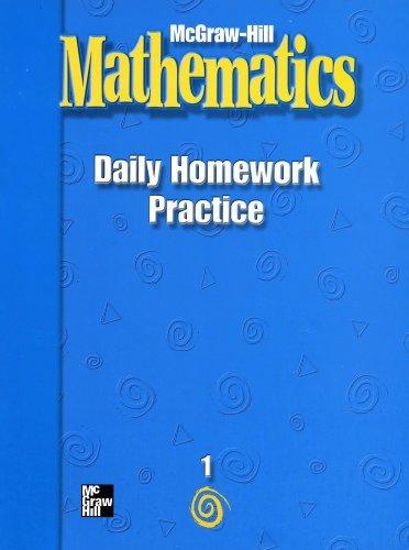 9780021002832: McGraw-Hill Mathematics: Daily Homework Practice (Grade 1)