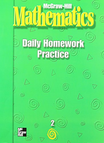 9780021002849: McGraw-Hill Mathematics, Grade 2, Daily Homework Practice (MMGH MATHEMATICS)