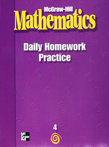 9780021002863: McGraw Hill Daily Homework Practice Book: Grade 4