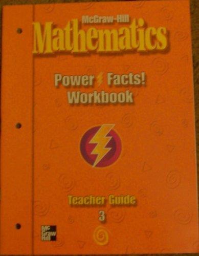 9780021003587: McGraw-Hill Mathematics Power Facts Workbook Teacher Guide Grade3