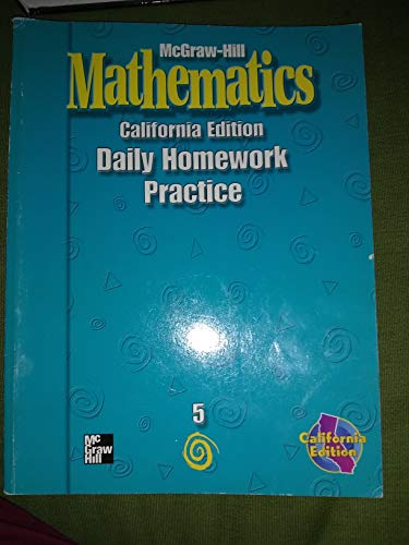 9780021004164: McGraw Hill Mathematics: Grade 5 : California Edition : Daily Homework Book