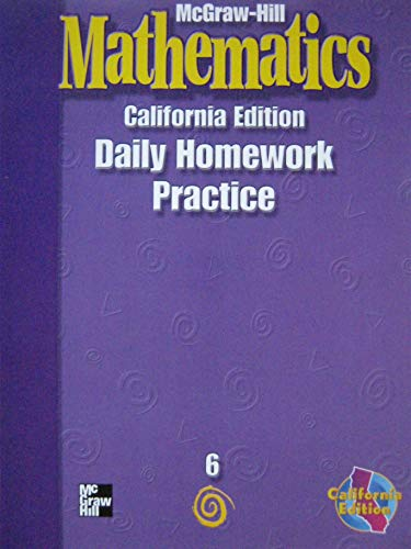 9780021004171: McGraw Hill Mathematics: California Edition Daily Homework Book