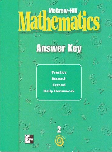 9780021004195: Mathematics Answer Key, Grade 2