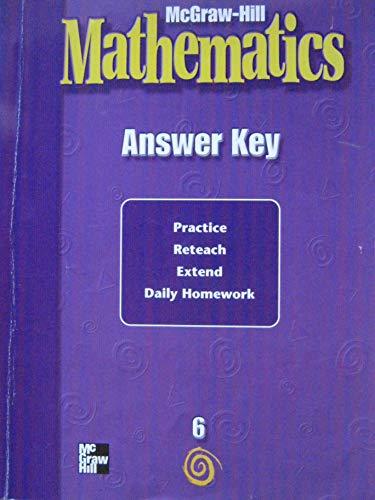 9780021004232: Mathematics Answer Key, 6th grade