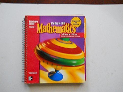 9780021006366: McGraw-Hill Mathematics: Kindergarten - California Edition (Teacher's Guide, Vol. 1)