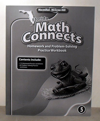 9780021011797: Math Connects Homework and Problem-Solving Practice Workbook Grade 5