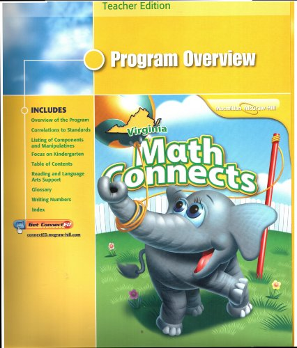 9780021031269: Virginia Math Connects, Grade K: Program Overview