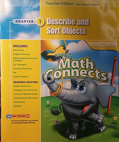 9780021031276: Describe and Sort Objects, Chapter 1, Math Connects, Teacher Edition, Virginia Edition