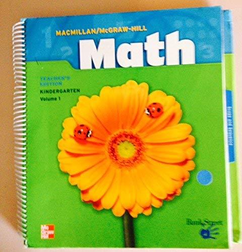 9780021040155: Math Kindergarten, Vol. 1, Teacher's Edition
