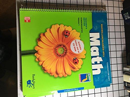 9780021040384: Math Grade K Volume 1 (McMillan McGraw Hill Math)