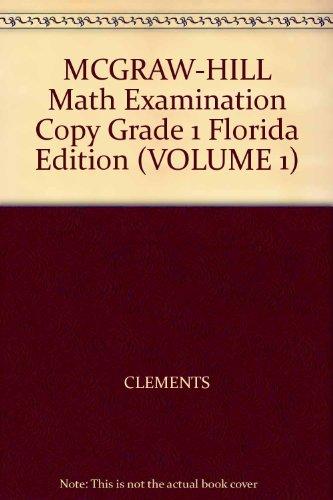 9780021040421: MCGRAW-HILL Math Examination Copy Grade 1 Florida Edition (VOLUME 1)