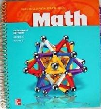 9780021040575: 2 Volume Set Math Grade 5 Teachers Edition (McMillan McGraw Hill Math)