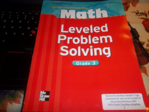 9780021042043: Macmillan Mcgraw-Hill Math Leveled Problem Solving, Grade 3