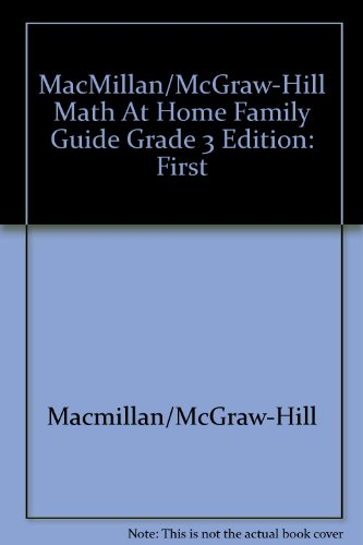 9780021042630: Math at Home Family Guide with Summer Skills Refresher, Grade 3 (Math)