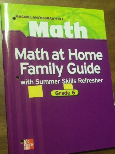 9780021042661: Math at Home: Family Guide with Summer Skills Refresher (Macmillan/McGraw-Hill Math)