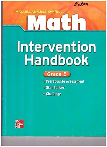 9780021043354: Intervention Handbook - Grade 5 (Macmillan/McGraw-Hill Math)