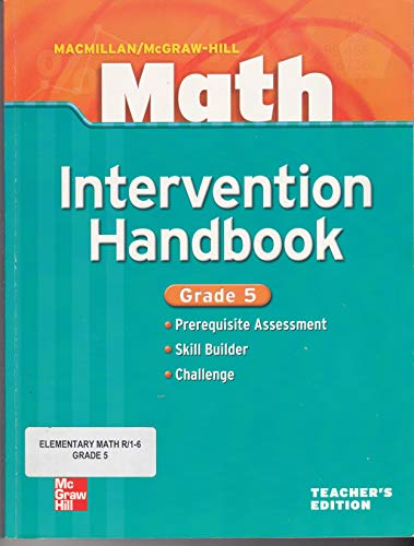 9780021043422: Math Intervention Handbook Grade 5 Teacher's Edition