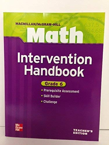 9780021043439: Intervention Handbook, Grade 6, Teacher's Edition (Macmillan/McGraw-Hill Math)
