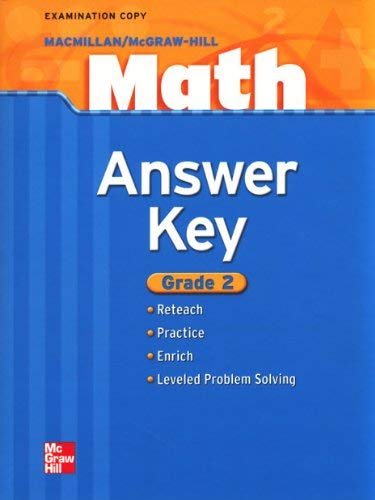 9780021043460: Math Answer Key Grade 2