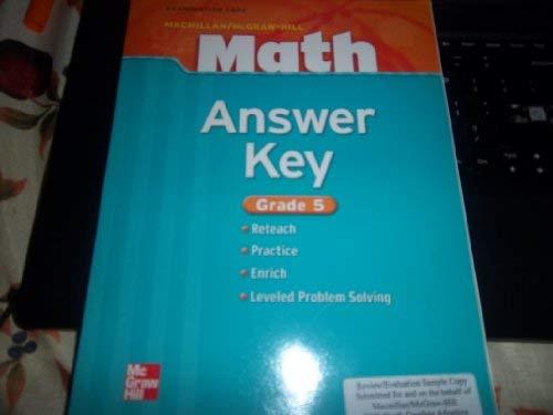 9780021043491: Gr5 Answer Key