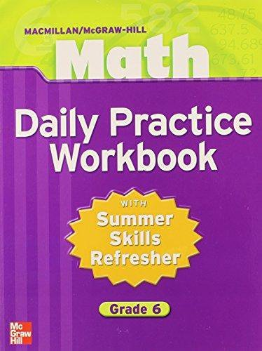 9780021049691: Math Daily Practice Workbook with Summer Skills Refresher: Grade 6