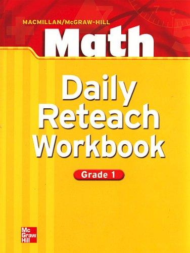 9780021053148: Daily Reteach Workbook (MACMILLAN / McGraw-Hill Math, Grade 1)