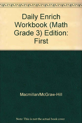 9780021053247: Daily Enrich Workbook (Math, Grade 3)