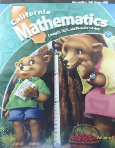 9780021056835: California Mathematics 2nd Grade: Concepts, Skills and Problem-Solving