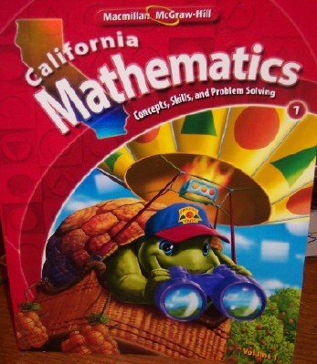 9780021057030: California Mathematics Grade 1 (Volume 1)