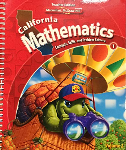 9780021057177: California Mathematics Teacher Edition Grade 2 (Concepts, Skills, and Problem Solving, Volume 2)