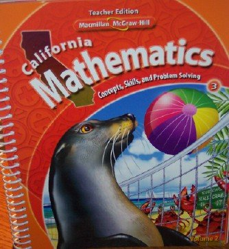 9780021057191: California Mathematics Teacher Edition Grade 3 (Concepts, Skills, and Problem Solving, Volume 2)
