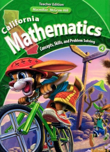 9780021057214: California Mathematics Teacher Edition Grade 4 (Concepts, Skills, and Problem Solving, Volume 1)