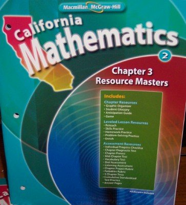9780021058181: Chapter 3 Resource Masters Grade 3 (California Mathematics)