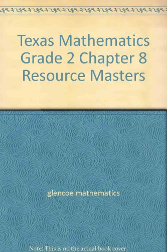 9780021058952: Texas Mathematics Grade 2 Chapter 8 Resource Masters